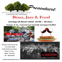 Wensconcert met Brass, Jazz en Food in Onder de Linden