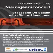De Bazuin B knalt 2018 in met Nieuwjaarsconcert in Vries